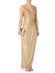 Biba Knot detail metallic event dress