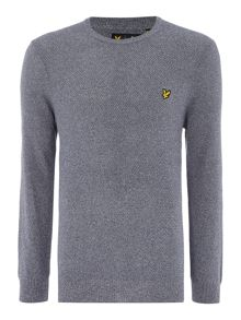 Crew Neck Marl Seed Stitch Jumper