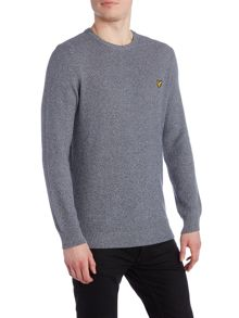 Lyle and Scott Crew Neck Marl Seed Stitch Jumper