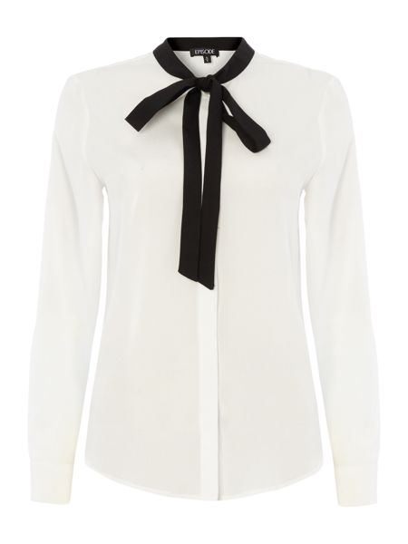 Episode Blouse with contrast tie neck