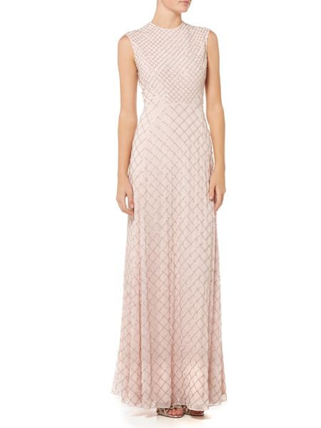 Needle and Thread Circle mesh maxi dress