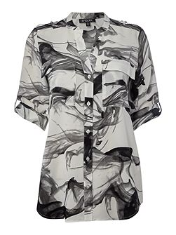 Blouse in shadow print