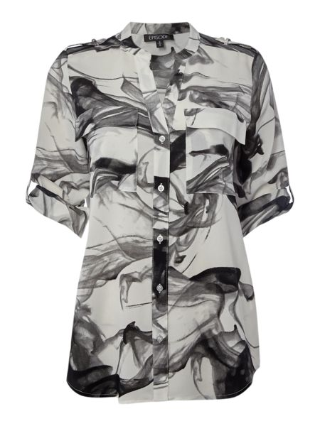 Episode Blouse in shadow print