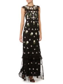 Needle and Thread Floral frill maxi dress