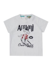 Armani Junior Boys Crocodile Graphic T-shirt