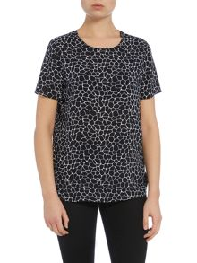 Armani Jeans Short sleeve small giraffe print top
