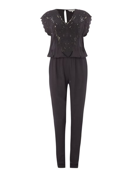 Gray & Willow Eilin embroidered cutwork jumpsuit