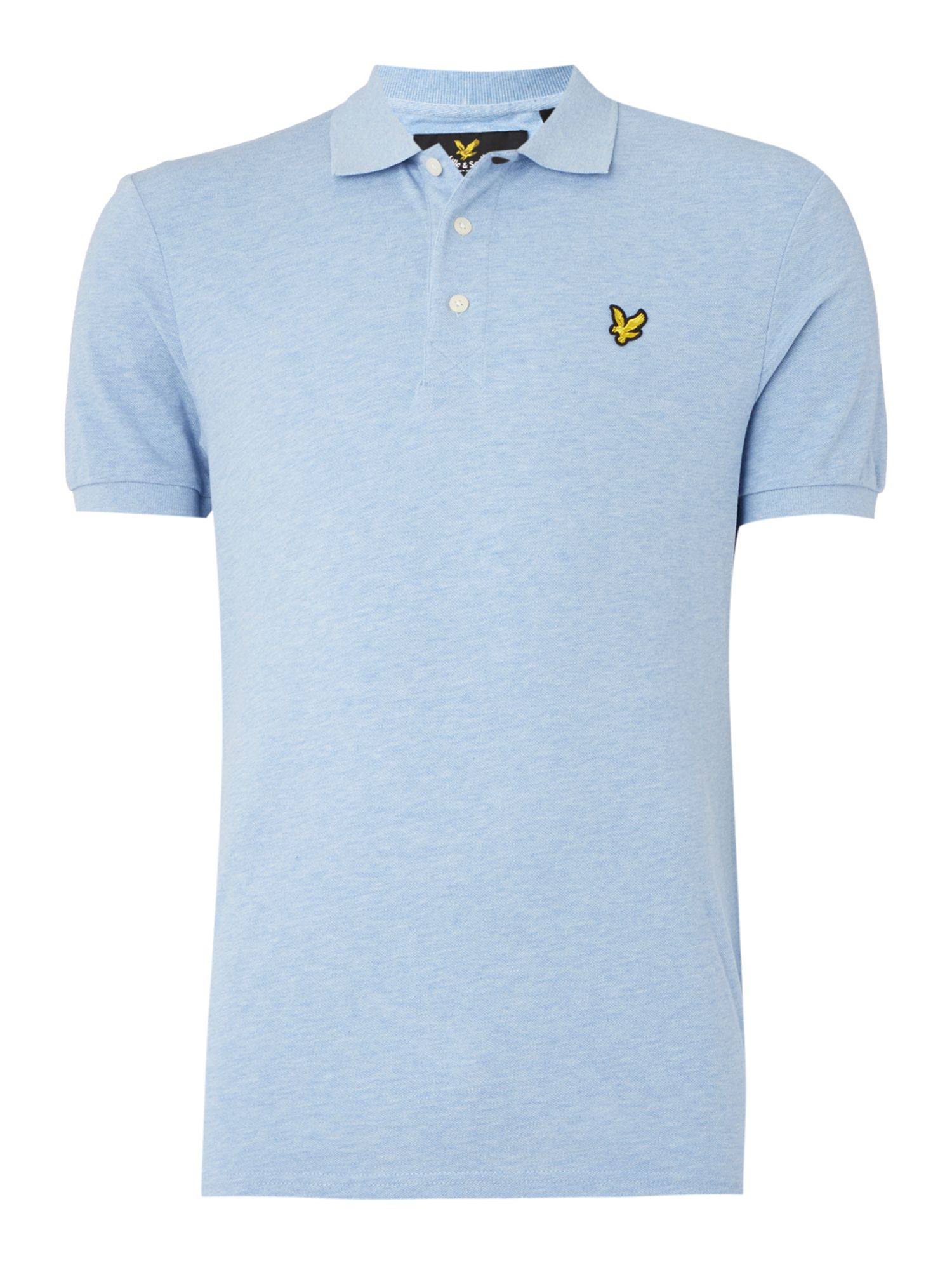 Men's Lyle and Scott Short Sleeve Classic Polo, Blue Marl