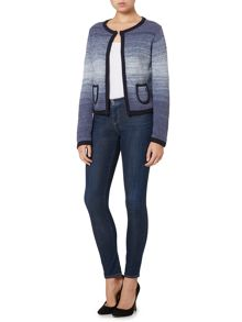 Armani Jeans Long sleeve ombre cardigan