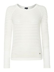 Armani Jeans Long sleeve sheer stripe jumper
