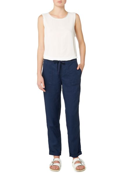 Linea Weekend Drawstring linen trousers