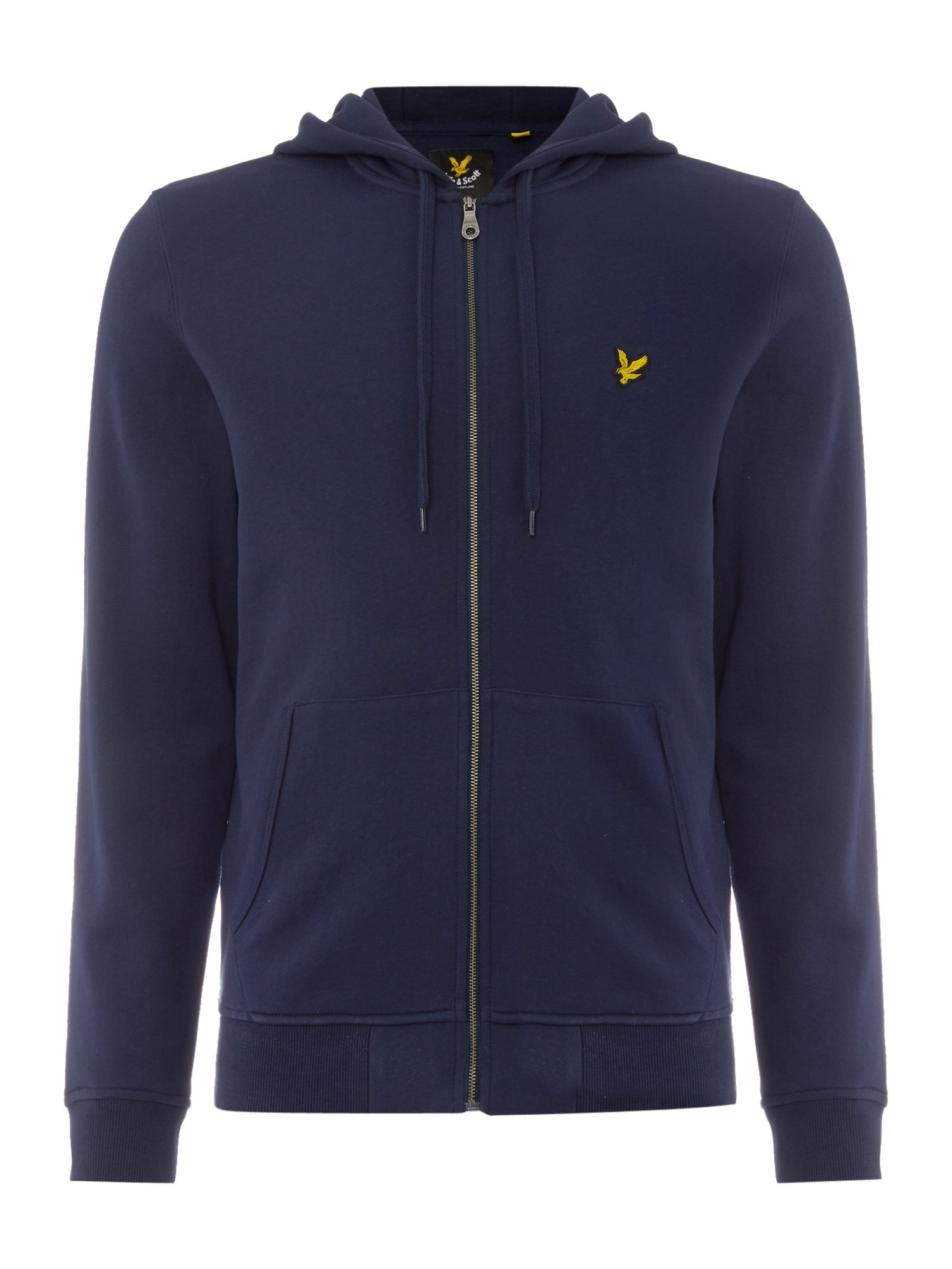Men's Lyle and Scott Zip Through Hooded Sweatshirt, Blue