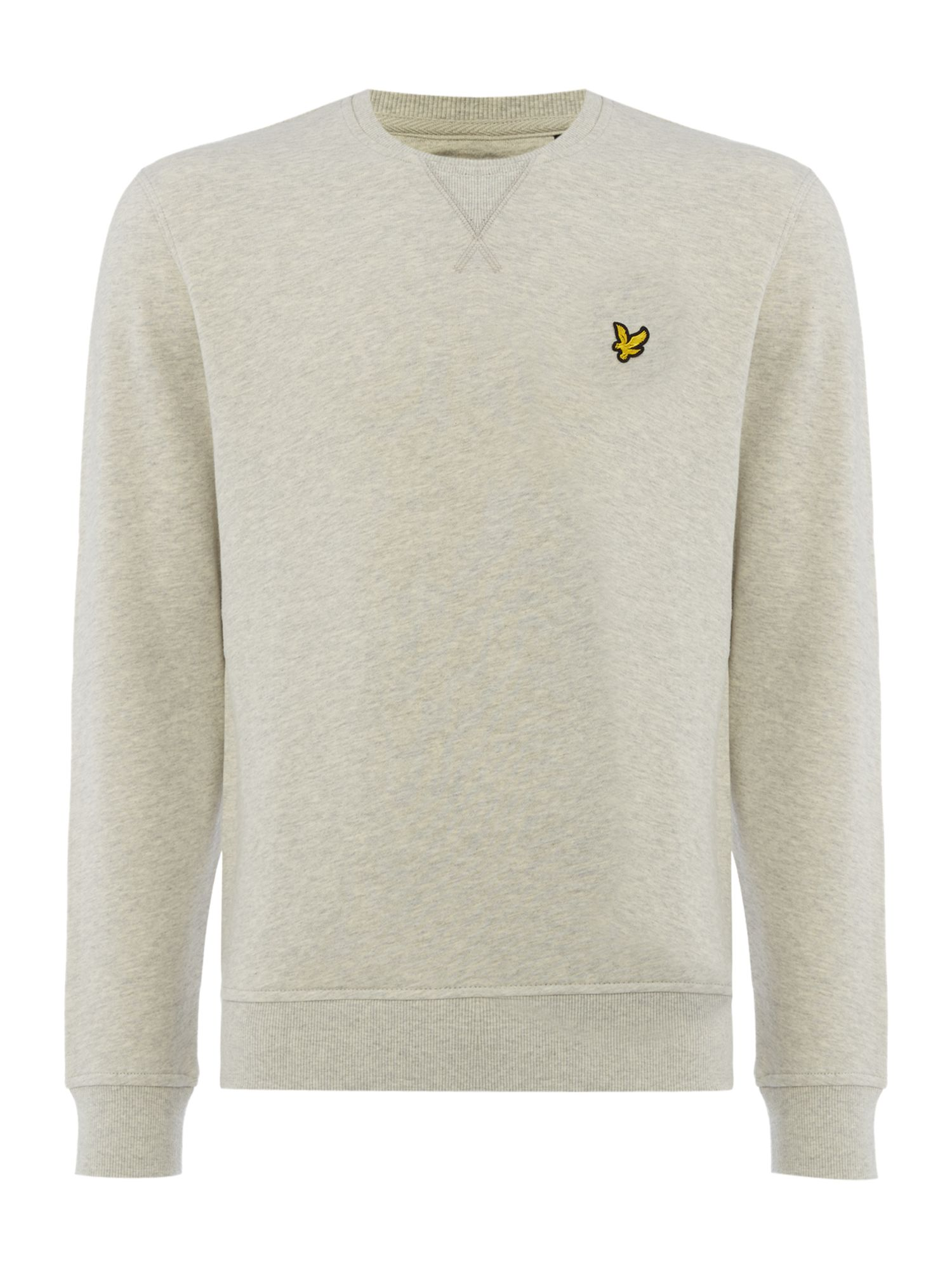 Men's Lyle and Scott Crew Neck Sweatshirt, Light Grey Marl