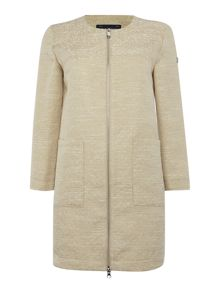 Armani Jeans Textured zip through coat