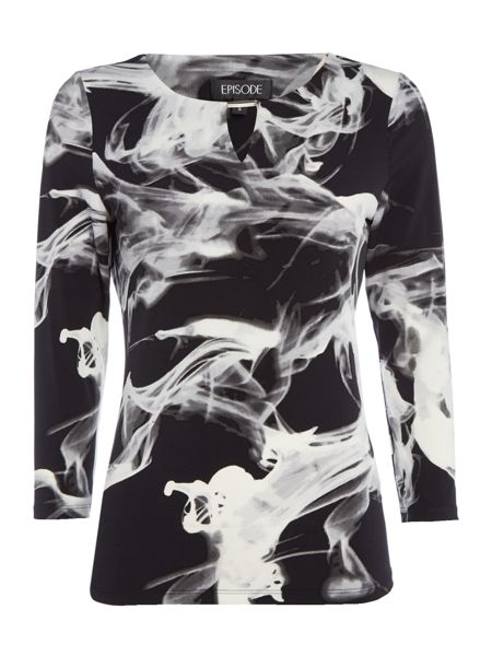 Episode Shadow print jersey top