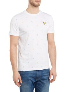 Lyle and Scott Micro Print Crew Neck Short Sleeve T-shirt