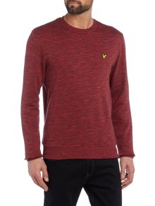 Lyle and Scott Space Dye Crew Neck Sweatshirt