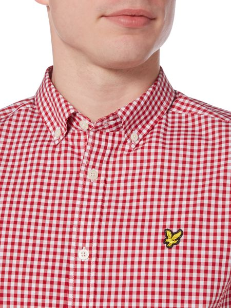 Lyle and Scott Gingham Check Short Sleeve Shirt