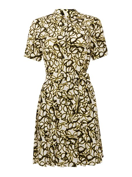 Sportmax Code Maiorca collared short sleeve print dress