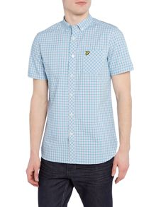 Lyle and Scott Micro Check Short Sleeve Shirt
