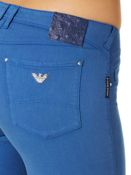 Armani Jeans J28 orchid mis rise skinny jean in blue