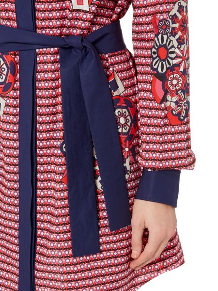 Sportmax Code Berg printed shirt dress with belt
