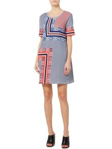 Sportmax Code Ucraina jersey printed t shirt dress