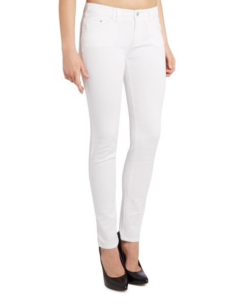 Armani Jeans J28 orchid mid rise skinny jean in white