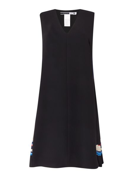 Sportmax Code Calmi v neck dress with pleated sides