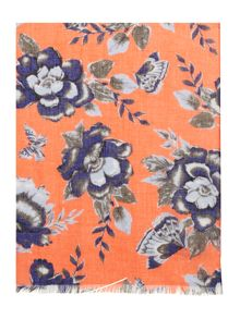 Dickins & Jones Floral and Butterfly Print Scarf