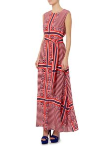 Sportmax Code Mimma belted silk maxi dress