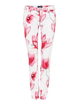 Armani Jeans J28 orchid mid rise skinny floral