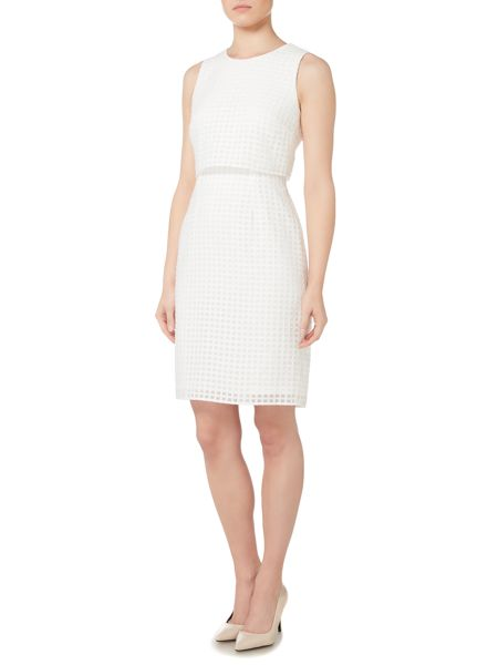 Episode Dress with eyelet detail and pop-over top