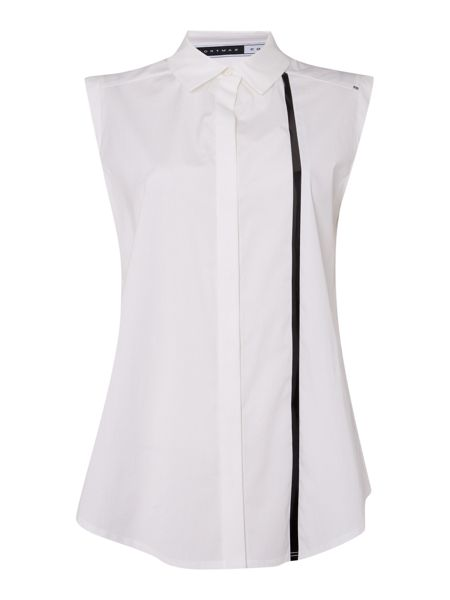 Sportmax Code Uniparo sleeveless shirt with stripe