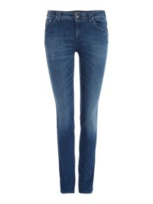 Armani Jeans J28 Orchid mid rise skinny embellished jean
