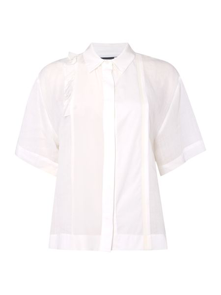 Sportmax Code Osmunda collared shirt with frill detail