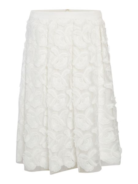 Episode A line skirt with 3D flowers