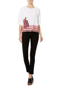 Sportmax Code Pallida embroidered hem top