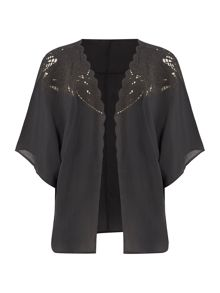Gray & Willow Elba Embroidered Cutwork Kimono