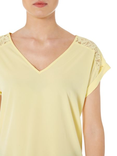 Therapy Lola Lace Shoulder Top