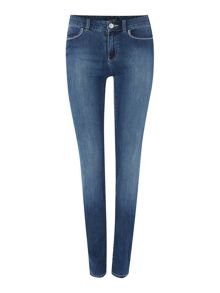 Armani Jeans J18 Dahlia high rise slim jean in mid wash