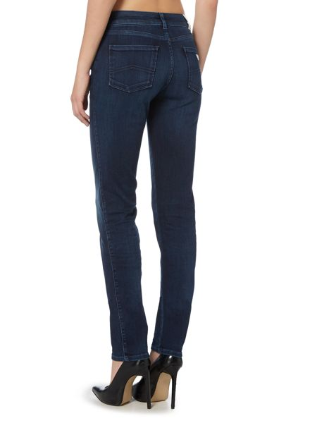 Armani Jeans J18 Dahlia high rise slim jean in dark wash