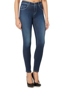 J20 Lilac high rise super skinny jean in mid wash