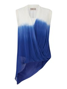 Label Lab Dip dye asymmetric sleeveless top