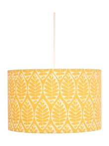 Dickins & Jones Tessa Yellow Leaf Printed Shade