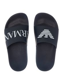 Armani Junior Boys Logo Sliders