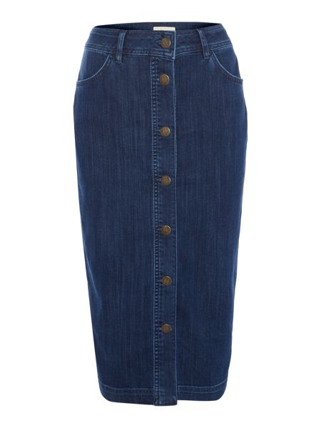 Linea Weekend Denim button down skirt