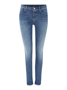 Armani Jeans J20Lilac highrise super skinny jean in light wash