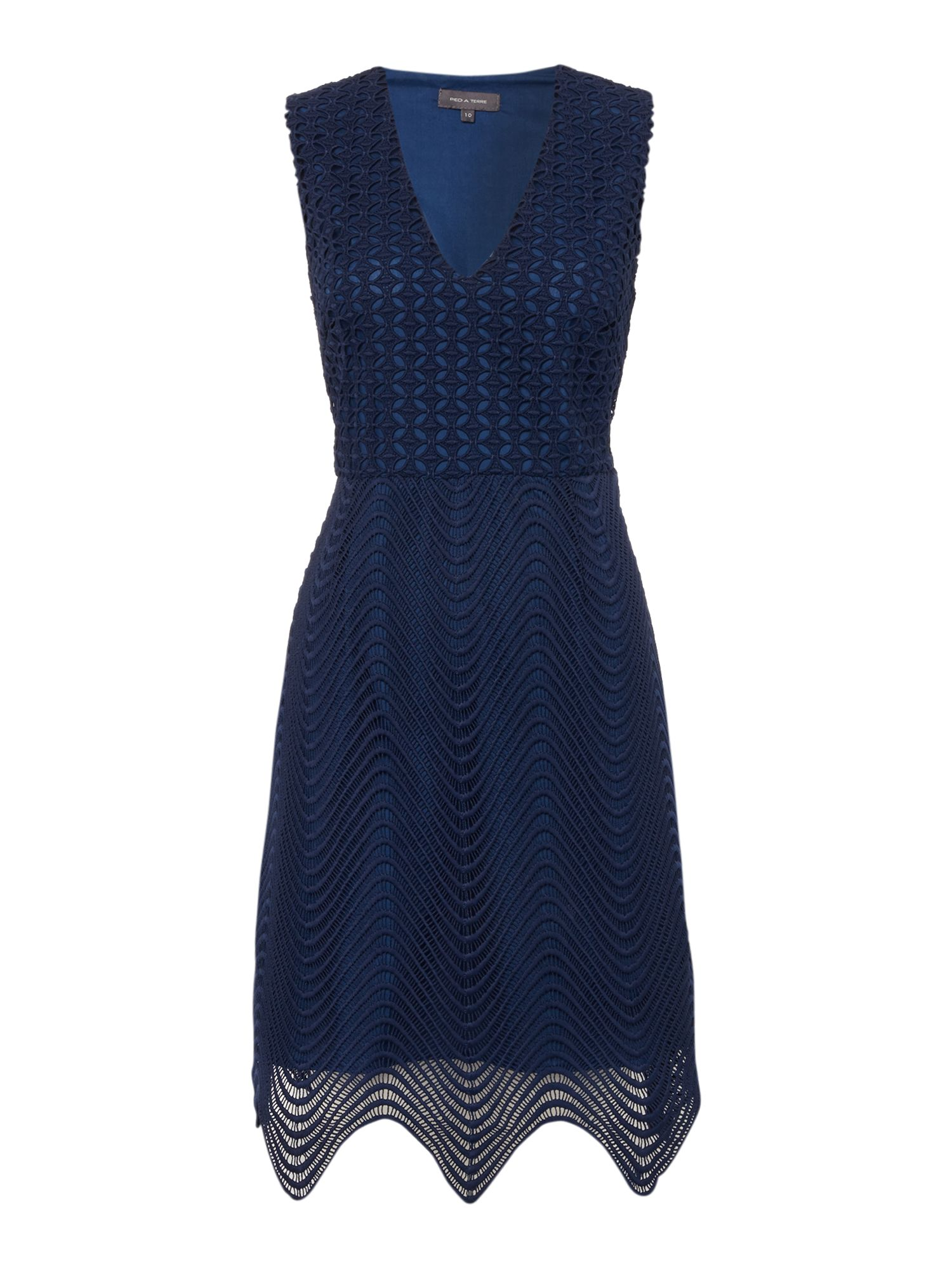 Pied a Terre Pied a Terre Kiara lace bodycon dress, Navy