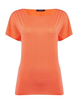 Tenna short sleeve silk plain top